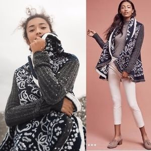 ANTHROPOLOGIE First Snow Sweater Coat Cardigan